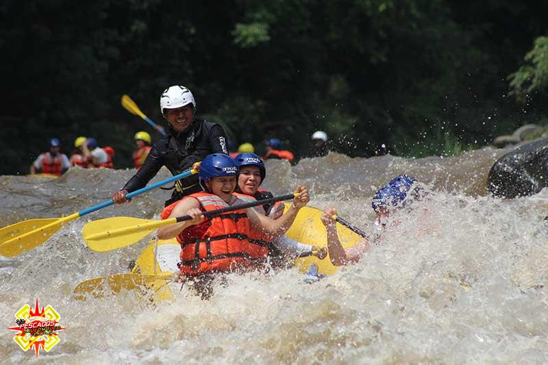 Descenso en el río pescados Jalcomulco, Veracruz