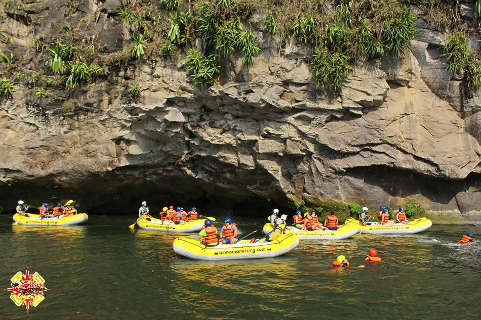 Lanchas en el rio Pescados Jalcomulco, Veracruz
