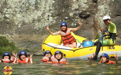 Rafting en el río pescados Jalcomulco, Veracruz